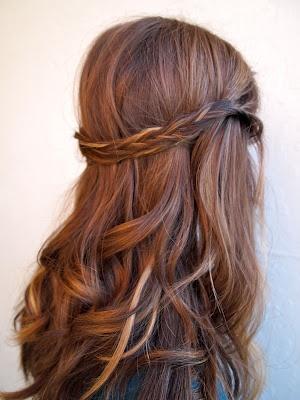 صورة تسريحات للشعر الطويل بسيطة , تسريحات الشعر الطويل والمتوسط
