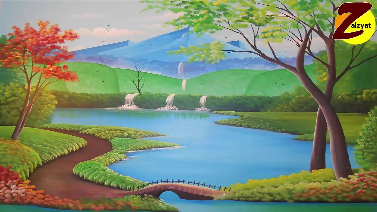 بالصور رسم منظر طبيعي , اجمل الرسومات المسليه للطفل من الطبيعه 2518 6