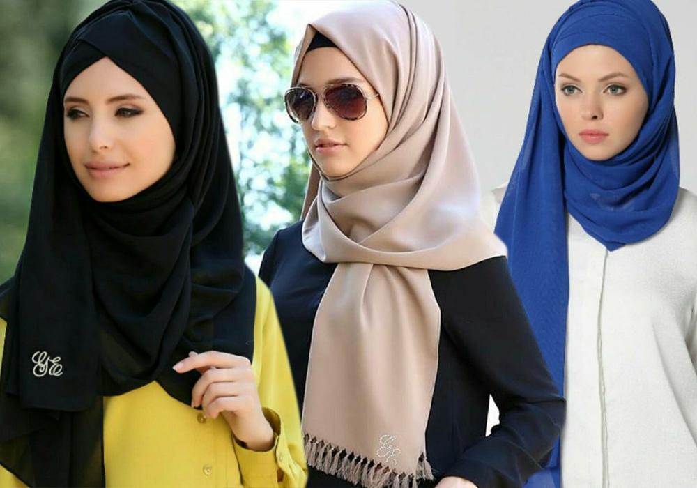 بالصور موضة الحجاب , افضل لفات طرح جديدة 3507 1