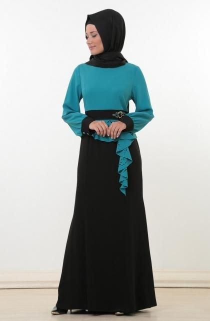 بالصور فساتين طويلة للمحجبات , فستان للبنت المحجبة يجنن 3509 3