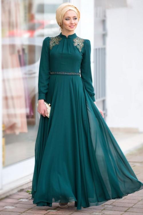 بالصور فساتين طويلة للمحجبات , فستان للبنت المحجبة يجنن 3509 5