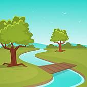 بالصور رسم منظر طبيعي سهل للاطفال , اجمل الرسومات الخاصة بالاطفال cartone animato estate paesaggio clip art  k26167377