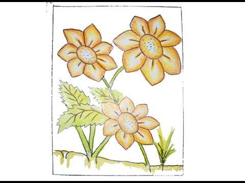 بالصور رسم منظر طبيعي سهل للاطفال , اجمل الرسومات الخاصة بالاطفال hqdefault 2