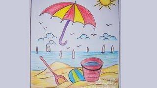 بالصور رسم منظر طبيعي سهل للاطفال , اجمل الرسومات الخاصة بالاطفال mqdefault
