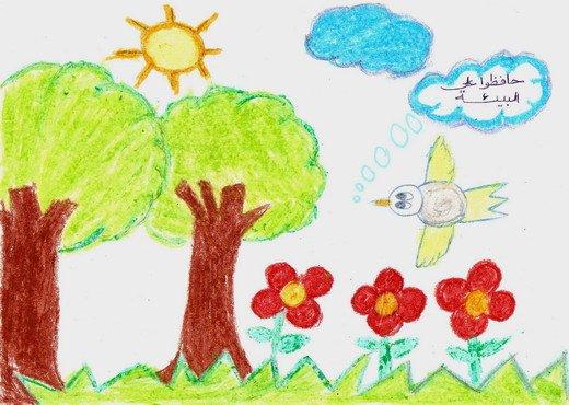 بالصور رسم منظر طبيعي سهل للاطفال , اجمل الرسومات الخاصة بالاطفال r3