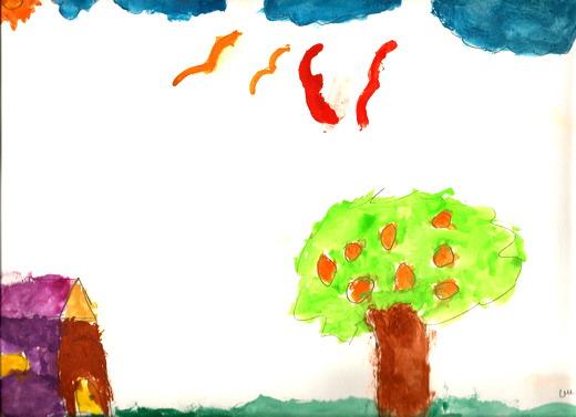 بالصور رسم منظر طبيعي سهل للاطفال , اجمل الرسومات الخاصة بالاطفال r6