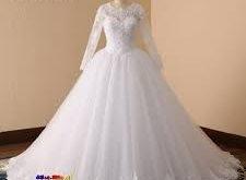 صوره فساتين زفاف للمحجبات , اجمل فستان افراح