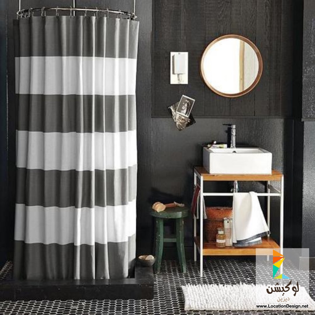صوره ستائر حمامات , ستائر بالوان زاهية