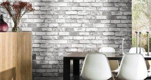 صوره ورق جدران رمادي , ديكورات عصرية للمنازل