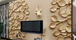 صوره ورق جدران ثلاثي الابعاد , صور تصميم ورق حائط 3d