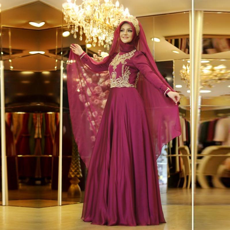 صورة فساتين سواريه 2019 للمحجبات , احلى فستان سوارية 2485 1