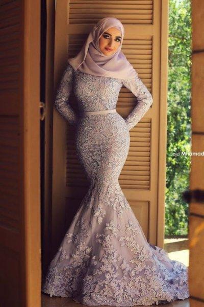صورة فساتين سواريه 2019 للمحجبات , احلى فستان سوارية 2485 5