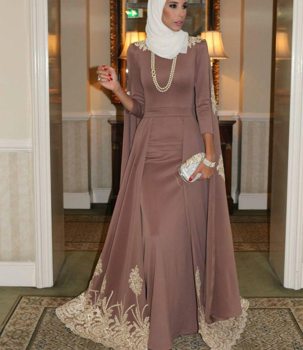 صورة فساتين سواريه 2019 للمحجبات , احلى فستان سوارية 2485 6