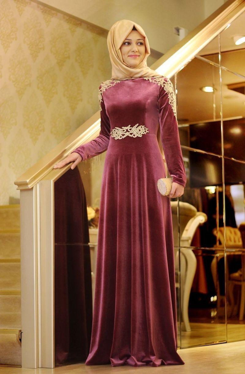 صورة فساتين سواريه 2019 للمحجبات , احلى فستان سوارية 2485