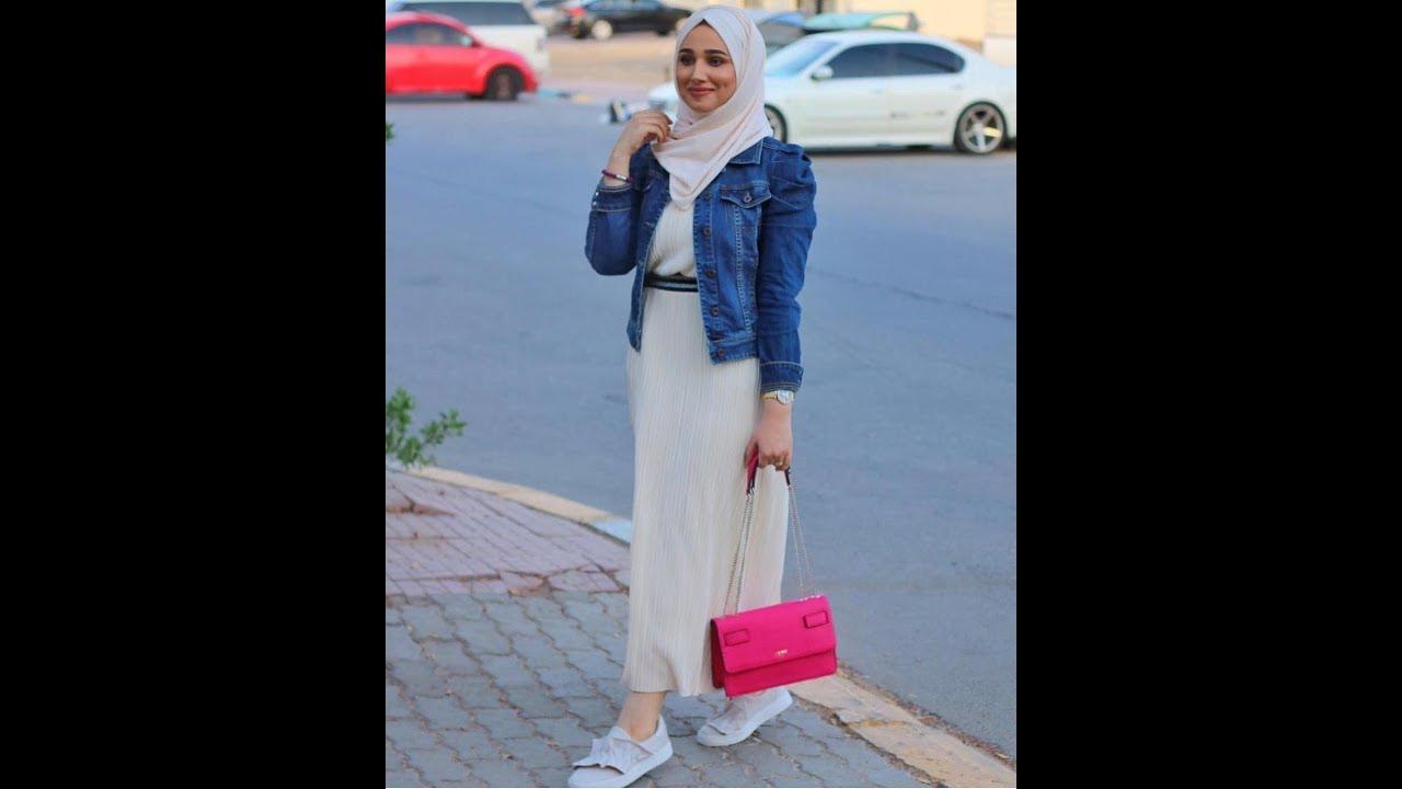 صورة موضة صيف 2019 للمحجبات , اجمل ملابس الصيف