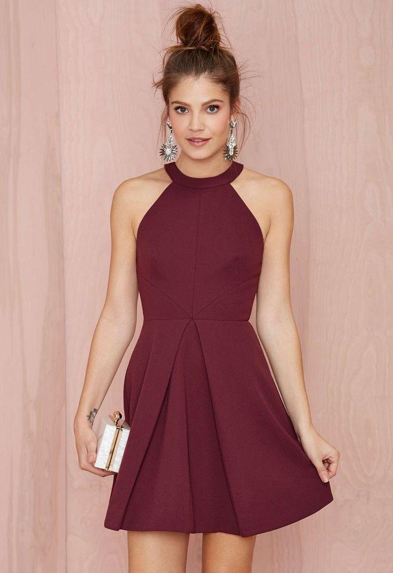 صورة فساتين قصيرة فخمة , احلى فستان قصير 2755 1