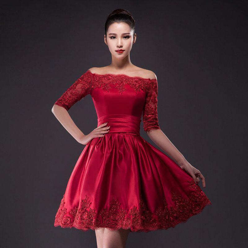 صورة فساتين قصيرة فخمة , احلى فستان قصير 2755 3