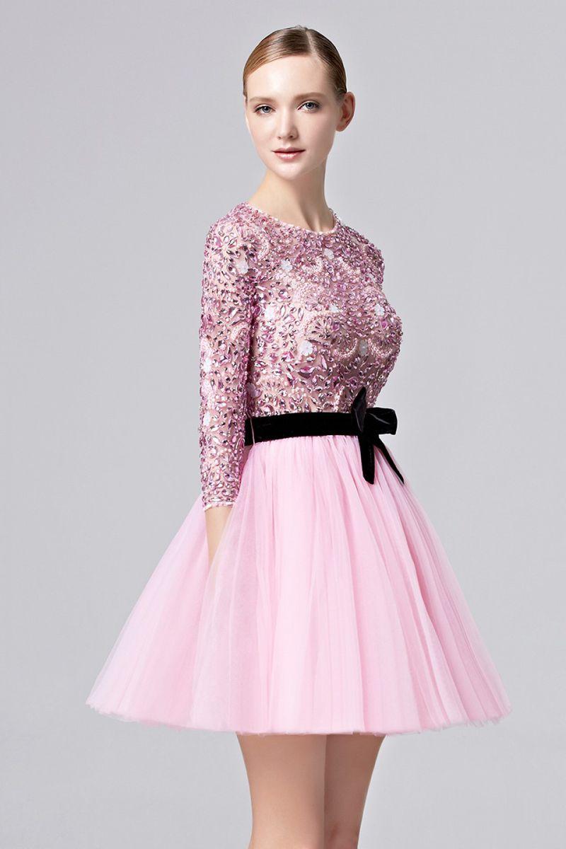 صورة فساتين قصيرة فخمة , احلى فستان قصير 2755 6