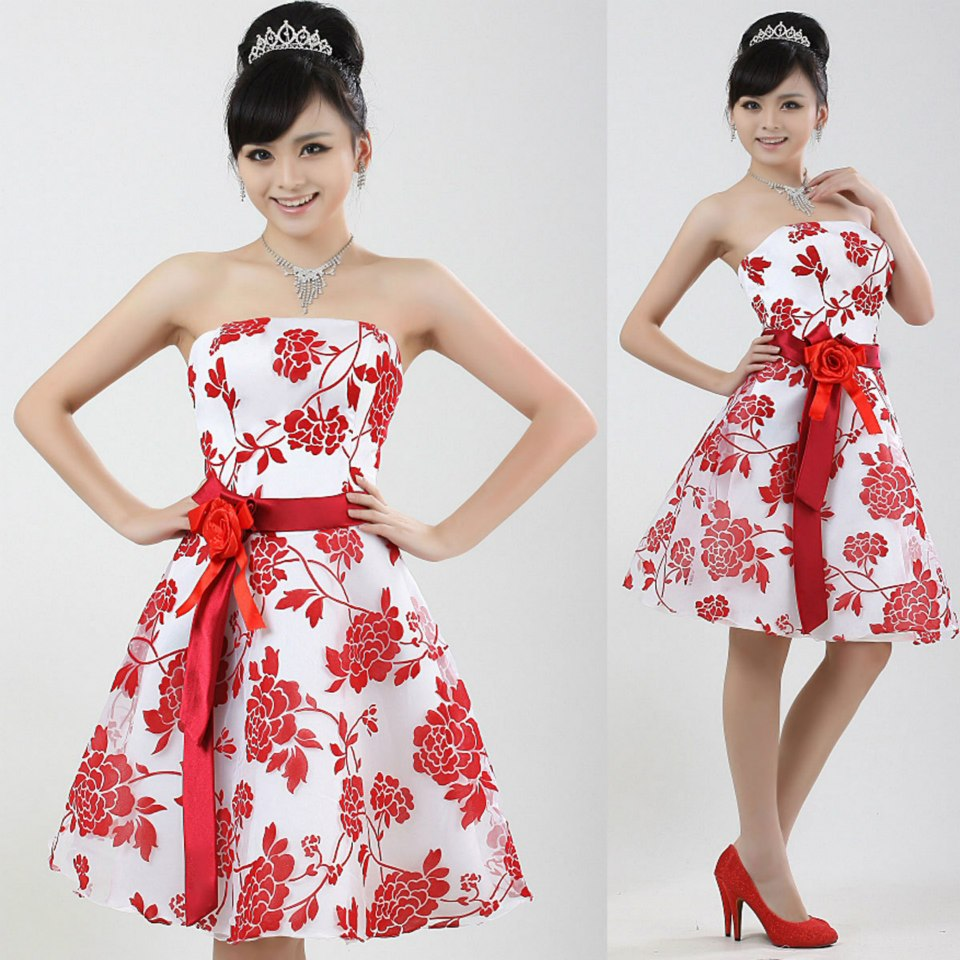 صورة فساتين قصيرة فخمة , احلى فستان قصير 2755 8