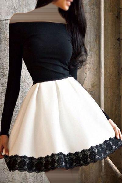صورة فساتين قصيرة فخمة , احلى فستان قصير 2755 9