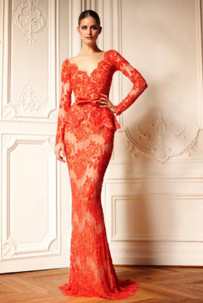 صورة موديلات فساتين دانتيل , تشكيلة من الفساتين الشيك للمناسبات 3473 8