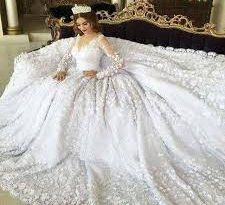 صوره فساتين اعراس , احلى واشيك فستان لاجمل عروسة