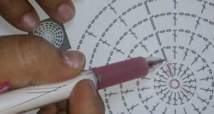 صورة باترون كروشيه , سلسلة تعليم قراءة الباترون