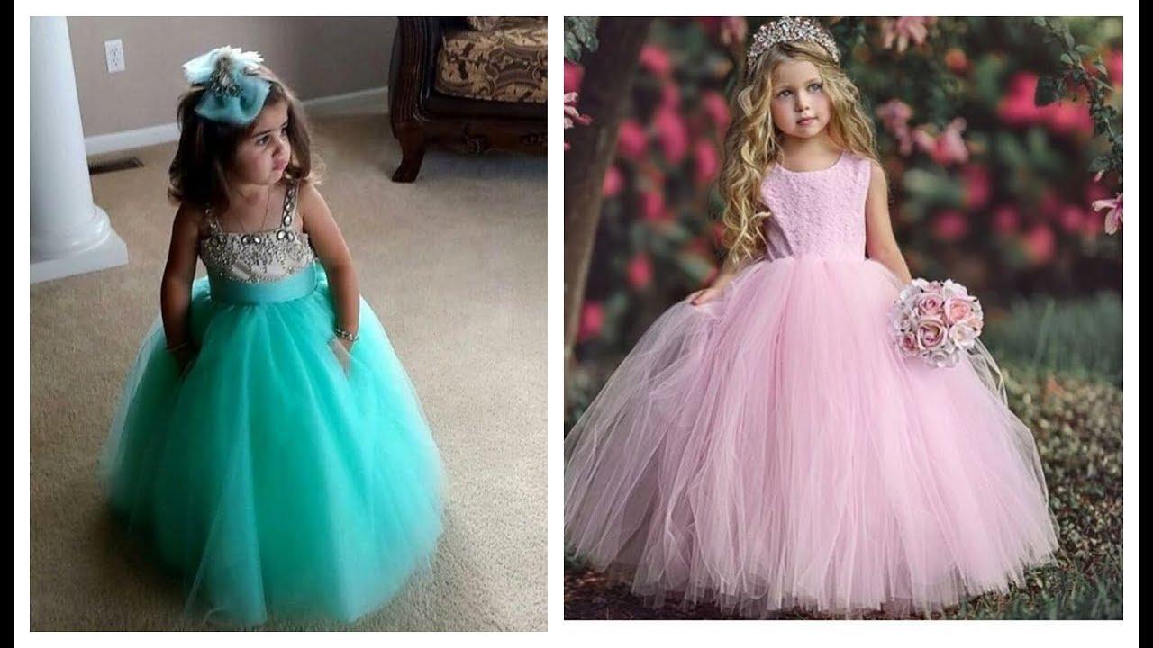 بالصور موضة فساتين 2019 , فستان شيك للطفله 2105 6