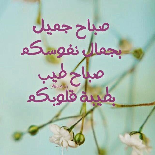 صورة كلمة صباح الخير , بدايه جديده من كلمتين
