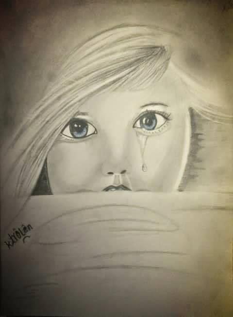 بالصور طفلة تبكي , دموع غاليه على القلب 1768 9