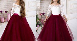 صوره فساتين بناتي , فرحة البنت الصغيرة فى ارتداء هذا الفستان