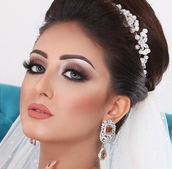 صوره صور مكياج عرايس ناعم , ماك اب خفيف وراقى جدا للعروسة