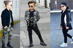 صورة ملابس اولاد , كولكشن ولادي روعة لشتاء 2019