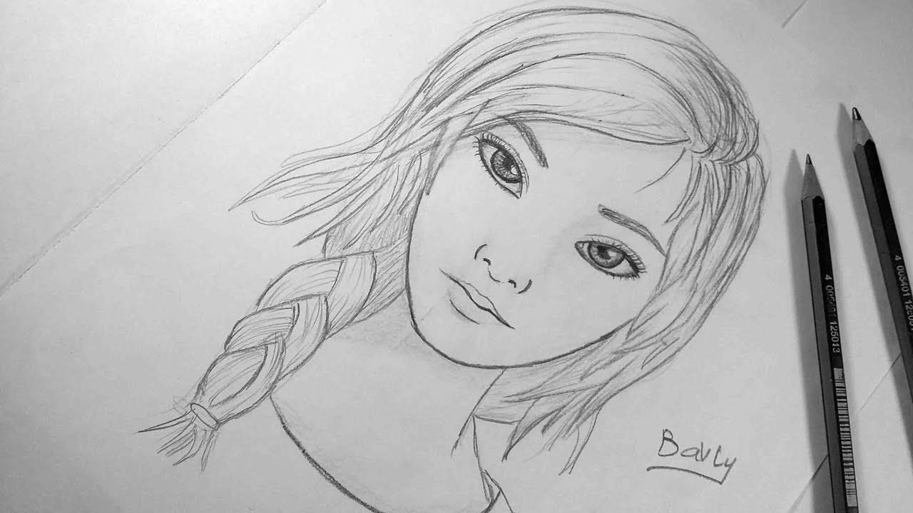 صورة رسومات بنات سهله , اروع اشكال للرسم