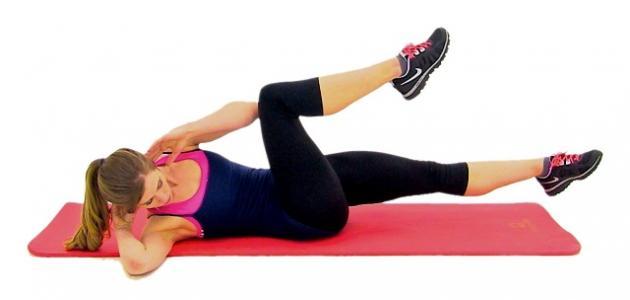 صورة تمارين تنحيف البطن , حركات بسيطة لتنزيل الكرش