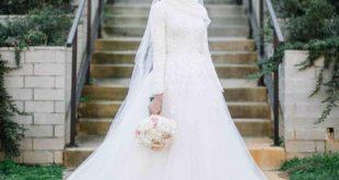 بالصور فساتين اعراس للمحجبات , اجمل فستان فرح لاحلى عروسة محجبة 3778 15 310x165