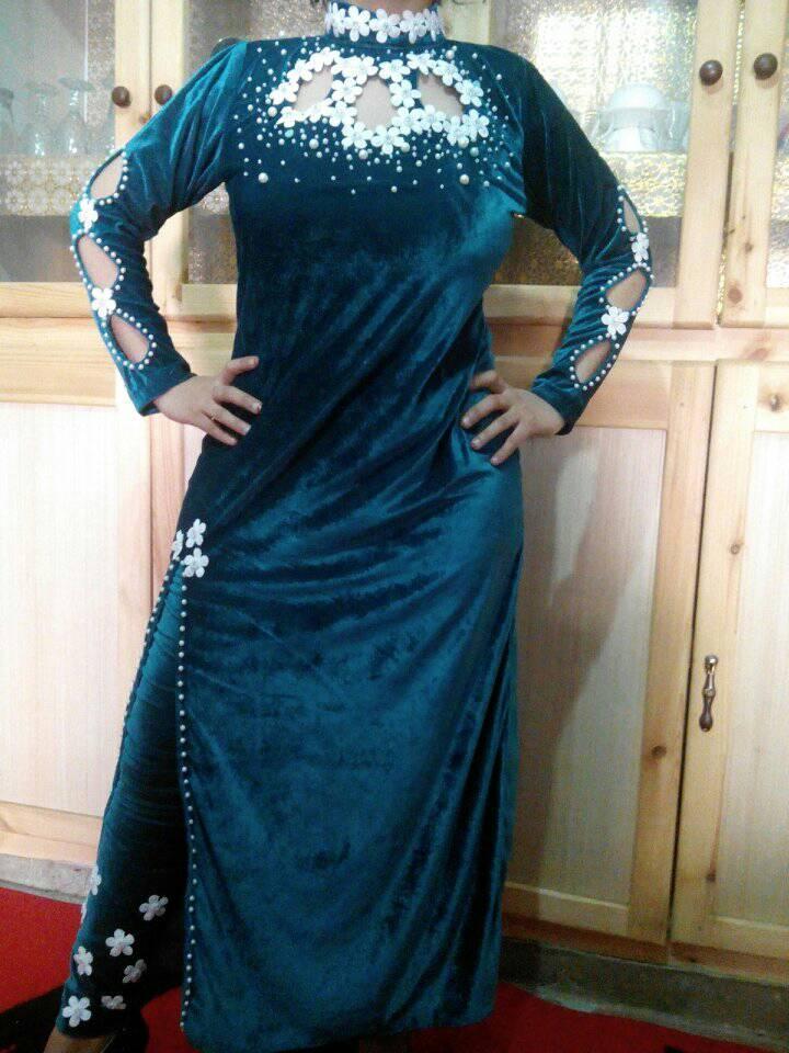 بالصور قنادر قطيفة للاعراس , ملابس نسائية تخبل 3721 1