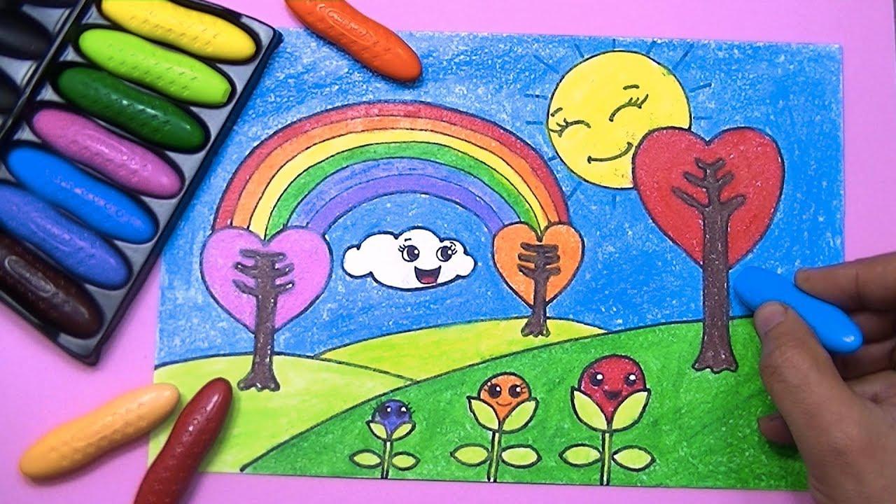 صورة رسم منظر طبيعي للاطفال , رسومات سهلة عن الطبيعة 169 3