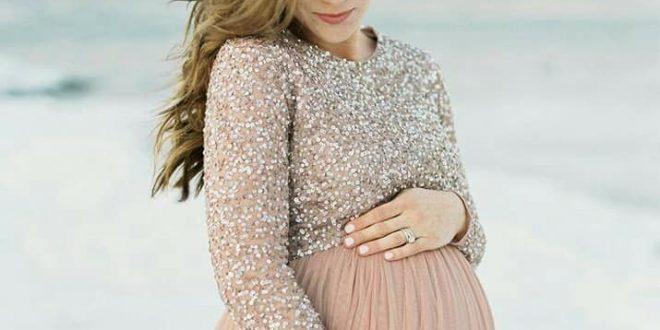 صورة فساتين للحوامل , فستان واسع ورقيق للحامل