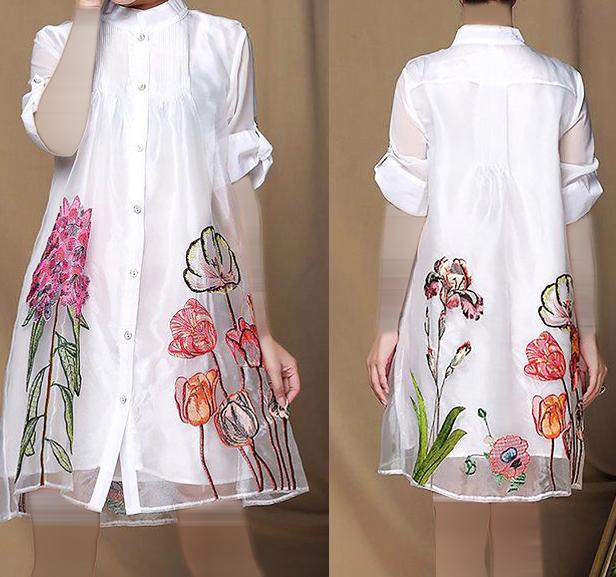 صور موديلات بلوزات شيفون للمحجبات , كولكشن رائع لملابس بنات محجبة