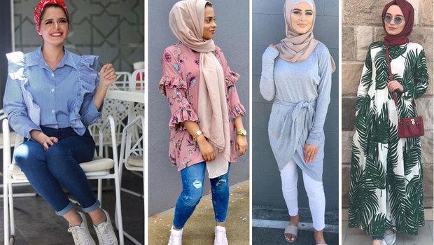 صورة موضة المحجبات , لفات طرح وملابس للبنات المحجبة