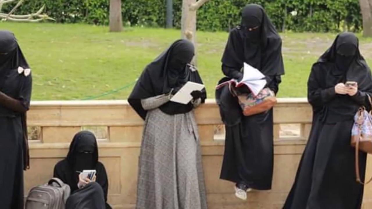 صورة طريقة لبس النقاب بالصور , صور عن الفتاه المنقبه