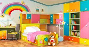 صورة غرف نوم ملونه , شوف معايا اجمل غرف ملونة ورائعة