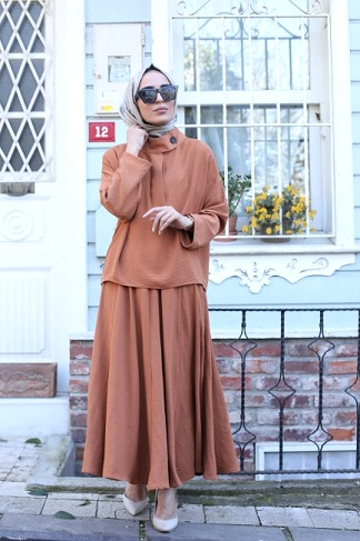 صورة ملابس محجبات تركية , كوني مميزة بملابس تركية فاخرة