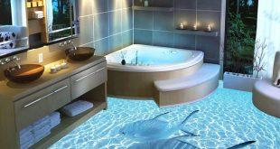 صورة سيراميك حمامات 3d , شوف معنا اجمل سيراميك لحمامات 3d