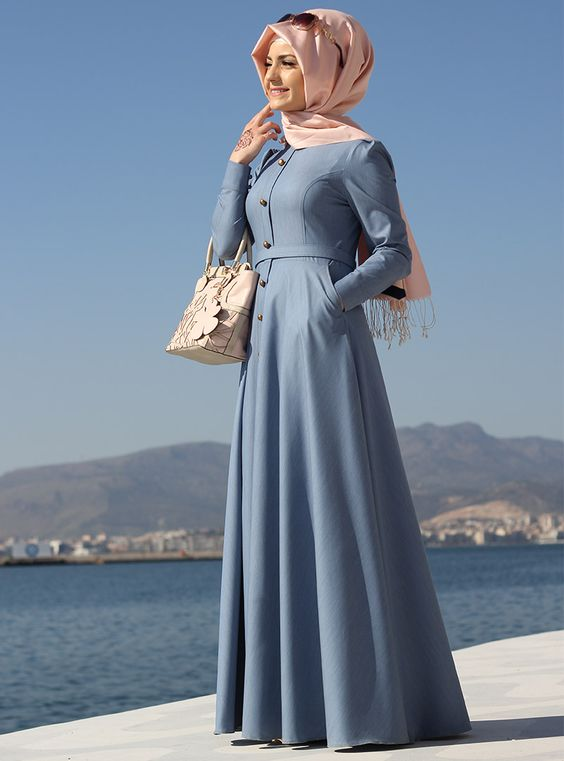 صورة ملابس حجاب تركية , اجمل ملابس تركية للمحجبات