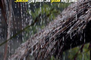 صور معنى المطر في الحلم , ما معنى ودلالة رؤية المطر في المنام