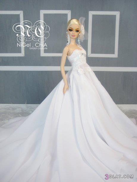 صورة فساتين اعراس باربي , اجمل فساتيين باربي للاعراس