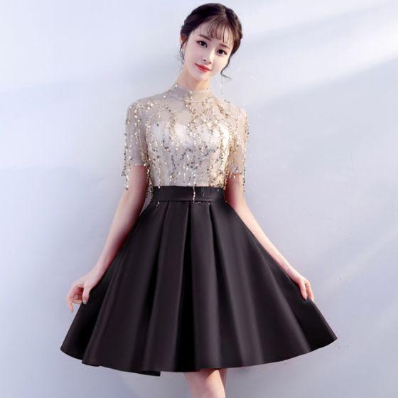 صورة فساتين قصيرة , اشيك الفساتين القصيره 1008 7