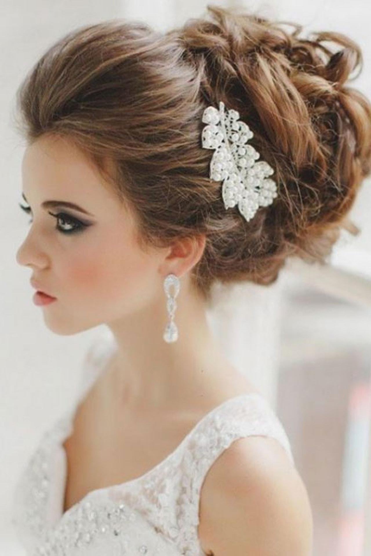 صورة اجمل تسريحات العروس , تسرحات روعة لعرائس 2020 9379 8